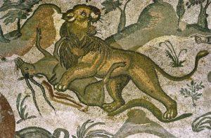 Lion, Piazza Armerina