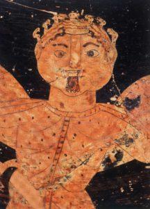 Fig. 1. Gorgone, détail de l'amphore surpeinte inv. SH 8437