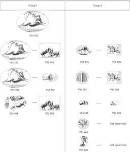 Fig. 2. Seal impressions on flat-based nodules at Akrotiri